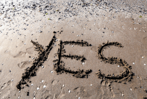 saying yes to freelance jobs
